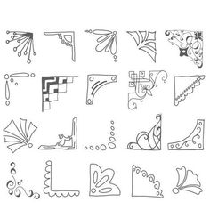 Cute Picture Corners Clip Art // Hand drawn by thePENandBRUSH