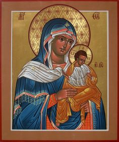 A gallery of icons of the Theotokos by master Iconographer Father Matthew Garrett. Icons for sale and commission, as well as info on icon classes and workshops Matthew Garrett, Orthodox Icons, Byzantine, Madonna, Father, Marvel, Baseball Cards, Gallery, Painting