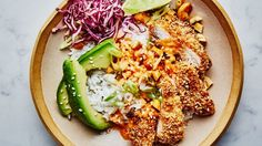 Gochujang-Ranch Crispy Chicken Bowl Recipe | Bon Appetit