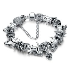 European Style Silver With Rotating Horse Animal Bead Vintage Charm Br - Pluto99