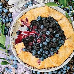 Double Berry-Almond Galette | MyRecipes.com