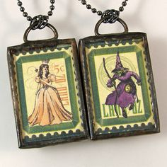 Gee, who am I today? the good witch or the bad witck?!  think my family would really like this pendant for me!!  Wizard of Oz Reversible Pendant Necklace by XOHandworks $25