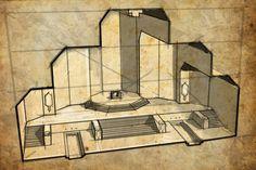 erebor - Google zoeken Dwarven City, Throne Room, Fantasy Inspiration, Construction, Art Girl, Concept Art, Castle, Deviantart, Architecture