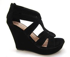 NEW Womens Fashion Shoes Sandals Wedge High Heel Platform Open Toe Pump Strappy  - BUY NOW ONLY 9.99