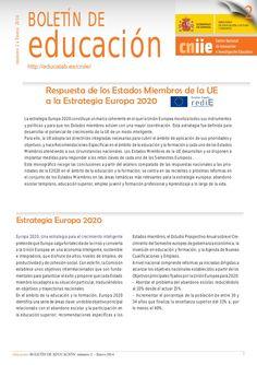 Respuesta de los Estados Miembros de la UE a la Estrategia Europa 2020. Enero 2014.