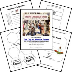 Free Egypt Unit Study (and other Africa unit studies) Geography Lesson Plans, Modern Egypt, African American Studies, 6th Grade Social Studies, World Geography, Unit Studies, Language Activities, Too Cool For School, The Unit
