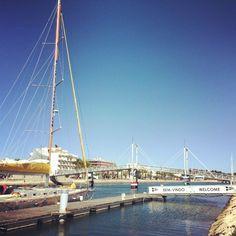 Bom dia e bem-vindo à Marina de Lagos! Good morning & welcome to Marina de Lagos! #marinadelagos #Algarve #Lagos #LagosPortugal #Portugal #visitportugal #marina #regata #yachts #race #yachting #sailing #speed #sails #boat #sea #mar #sail #sailboat #regatta #sailsport #instasailing #vela #bateau #sailrace #sailracing #sailingstagram #madeofocean #lovetheocean #theworldguru by marinadelagos