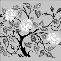 Arts and Crafts stencils from The Stencil Library. Buy from our range of Arts and Crafts stencils online. Page 8 of our Arts and Crafts motif stencil catalogue. Stencil Patterns, Stencil Designs, Embroidery Patterns, Rose Stencil, Leaf Stencil, Art Journal Pages, Stencils Online, Shrub Roses, Silhouette Art
