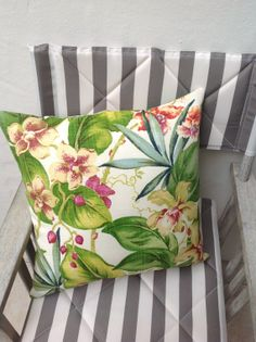 Tommy Bahama tropical orchid palm print by BENSOMEliving on Etsy, $49.00