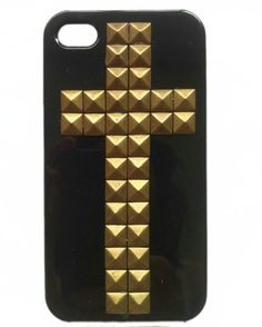 Punk Style Mobile Phone Protective Skin for iPhone 4/4S Case with Studs and Spikes Black Bronze by OEM, http://www.amazon.com/dp/B009Y59DSM/ref=cm_sw_r_pi_dp_yJtrrb19XEH1V