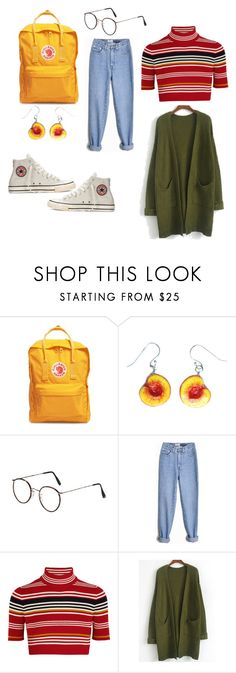 """Art Hoe"" by peachyfilm ❤ liked on Polyvore featuring Fjällräven, Alessandra Rich and Converse"