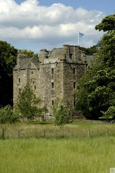 Elcho Castle, Perthshire, Kinross & Angus. 16th Century fortified mansion with three towers!