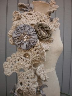 """Crochet Beautiful    You need to check out this wonderful ETSY shop:""""deniz03""""    Such beautiful and unique handmade scarves, boleros, caplets and more!"""