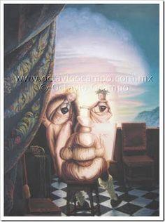 Lions for Lambs: Octavio Ocampo - Art and Illusion optique Optical Illusion Images, Optical Illusion Paintings, Optical Illusions Pictures, Illusion Kunst, Illusion Pictures, Art Optical, Illusion Art, Hybrid Art, Street Art