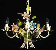 Vintage French Tole Chandelier, Ooh La La - Like the one I have.