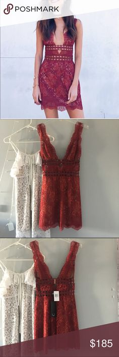 ❤️ nwt for love and lemons mon Cheri mini dress Nwt for love and lemons mini mon Cheri dress. Beautiful dress but doesn't fit me quite right, am about to alter it if it doesn't sell by the end of March For Love and Lemons Dresses Mini