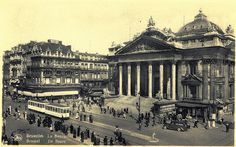 Old postcards of Brussels – The Stock Exchange by Michiel2005, via Flickr