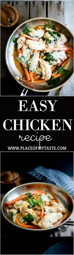 This easy chicken recipe is amazing. Super simple and very yummy!