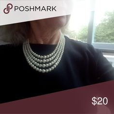 💕Faux Pearl Necklace💕 Pretty and classic four-strand faux pearl necklace.  Excellent condition; no flaws. Jewelry Necklaces