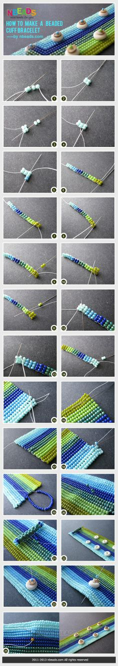 How to Make A Beaded Cuff Bracelet – Nbeads