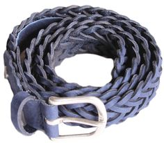 Classic Braided Belt in Cobalt
