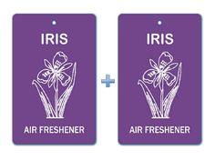 Iris Floral Air Freshener Paper Hanging Bar (Pack of 2)/ Car-Home-Office Ecofriendly Pocket Deodorizer