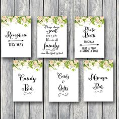 peonies wedding signs, bridal shower printable signs th01
