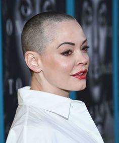 Rose McGowan's Shaved Head