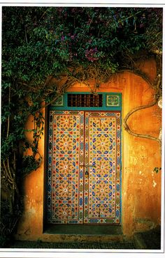 Colorful door in Rabat, Morocco