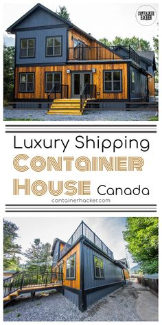 Luxury Shipping Container House - Canada - Living in a Container Cargo Container Homes, Shipping Container Home Designs, Building A Container Home, Container Buildings, Container Home Plans, Shipping Containers, Modern Tiny House, Tiny House Cabin, Tiny House Design