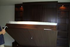 Schrankbett - Bett ausziehen