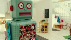 """Meet Robot one of the new characters in the new IKEA advert """"Playin' With My Friends"""". Click on the pin to watch the ad."""