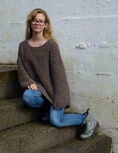Oversized Jumper by Dorthe Skappel FREE PATTERN on Ravelry in Norwegian & English