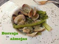Cocinando en Mislares: BORRAJA con ALMEJAS