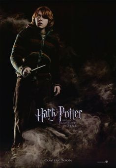11x17 inch Harry Potter and The Goblet of Fire poster features Ron Weasley surrounded by mist with his wand out ready for trouble.   Get yours now at http://harrypottermovieposters.com/product/harry-potter-and-the-goblet-of-fire-movie-poster-style-aa-11x17-inch-mini-poster/