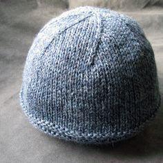 Bleu Arts: New Knitting Pattern: 3 Ribs Brim Boyfriend Hat