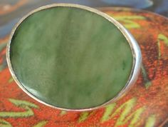 Greenstone brooch set in sterling silver