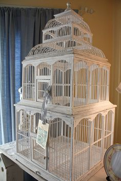 bird cage - artistic pieces - something for decorations but these things should never be used for live birds - I mean, REALLY?... it's no different from putting a dog on a chain or any of animal in a pin... putting a live creature in a cage is HORRIBLE... God gave birds the gift of flight for Pete's Sake... ;-)