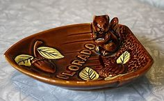 Vintage squirrel dish from flea market