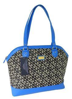 Tommy Hilfiger Women Tote Handbag in Black & Tan