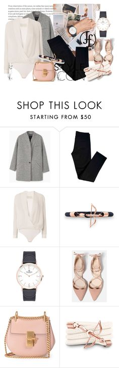 """Win $50 from Franco Florenzi."" by annaruto ❤ liked on Polyvore featuring MANGO, J Brand, Michelle Mason, Novara, VIcenza, Chloé, Monza, whiteblouse, powderpink and francoflorenzi"