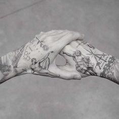 My best friend M R.k_tattoo 💥💥 - Hand Nail Design FoR Women Hand Tattoos For Guys, Finger Tattoos, Body Art Tattoos, Small Tattoos, Sleeve Tattoos, Tattoos For Women, Men Tattoos, Tatoos, Mens Hand Tattoos