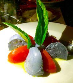 @cacioepepenyc  ....caprese salad — instead of tomatoes and regular mozzarella — is made with black (yes, black) buffalo mozzarella