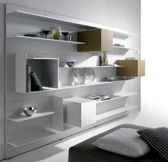 Minimalist Living Room Shelving Idea