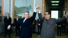 Ceauşescu and Kim Il-Sung, North Korea, 1971