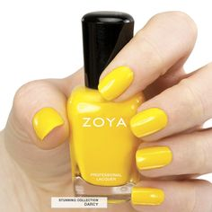 Here's your first look at Zoya #NailPolish in Darcy, a full-coverage, sunny yellow cream. #ZoyaStunning #summer