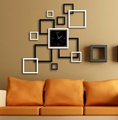 Home decoration!Mirror effect ring wall clock Modern design,3D interior decoration living room,wall watches,Free shipping! Z047 US $15.50 - 19.00