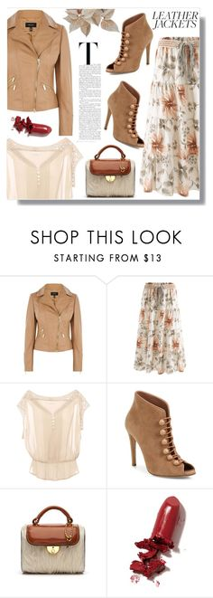 """""""leather jackets"""" by giada2017 ❤ liked on Polyvore featuring Karen Millen, Pull&Bear, Gianvito Rossi, Maison Margiela, LAQA & Co., leatherjackets and zaful"""