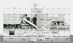 Clásicos de Arquitectura: Centre Georges Pompidou / Renzo Piano + Richard Rogers,© NJIT – Competition Drawing