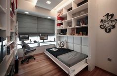 Fabulous Home Office Design Ideas with Modern Murphy Bed